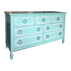Newport Cottages - Beverly 7-Drawer Dresser - This dresser is sweet enough for a nursery but fancy enough for your room too. Whether you choose to fill it with cotton onesies or silk nighties, this solid hardwood dresser will be in the family for a long time.