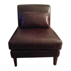Pottery Barn Leather Slipper Chair - Retail price:$899