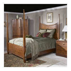 Butler - Millenium Park Four Poster Bed - Features: -Crafted from hardwood solids and olive ash burl veneers.-Distressed: No.-Collection: Millenium Park.Dimensions: -Top of post on all sizes: 82'' H.