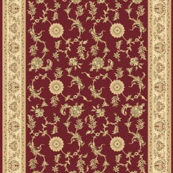 "Dynamic Rugs - Dynamic Rugs Rug, Red, 6' 7"" x9' 6"" - The Legacy Collection by Dynamic Rugs features persian styled rugs with 800,000 points with traditional colors."