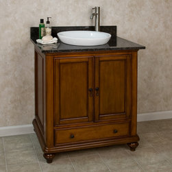 "36"" Weston Vanity for Semi-Recessed Sink - Providing ample storage room, this 36"" vanity features a large cabinet and lower drawer for additional space. Pair with a tall single-hole faucet for a designer look."