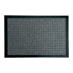 Rubber-Cal - Rubber-Cal 'Nottingham' Charcoal Carpet Rubber Mat (2' x 3') - The 'Nottingham' entrance mat is an eco-friendly mat made with a natural and reclaimed rubber. Its polypropylene fiber surface acts as a perfect traction mat in wet or slippery entryways and brings unbeatable non-slip protection to a home or office.