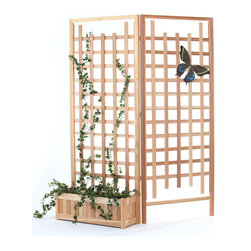 All Things Cedar - 3pc. Planter Set with Trellis Screen - This set includes 1 PL30U planter box with 2 TS33 Cedar Screen Panels Item is made to order.