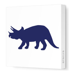 """Avalisa - Silhouette - Tri Stretched Wall Art, 12"""" x 12"""", Navy -"""