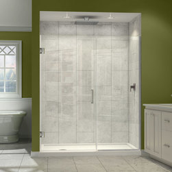 """Dreamline - Unidoor Plus 38-1/2 to 39""""W x 72""""H Hinged Shower Door - The Unidoor Plus Shower Door from DreamLine, the only shower door you need to complete any shower project. The UNIDOOR combines premium 3/8"""" thick clear tempered glass with a sleek frameless design for the look of custom glass at an amazing value. This collection is extremely versatile with an incredible range of sizes to accommodate shower openings from 23"""" to 61"""" in width. With clean lines, modern touches and an upscale look, the UNIDOOR Plus gives a breath of fresh style to any bathroom space."""