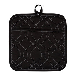 KAF Home - Neoprene Pot Holder - Black, Set of 4 - Our neoprene Pot Holders are stylish, comfortable, and safe. Available in a variety of striking colors, these Pot Holders are perfect for handling anything that can go in the oven. The neoprene grip offers a firm hand hold on any dish.