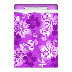"""Eco Friendly Hawaiian """"Aloha Purple"""" Twin Size Hibiscus Sheet Set - """"Aloha Purple"""" Twin Size Hawaiian Hibiscus Sheet Set is made of a lightweight microfiber for the ultimate experience in softness~ extremely breathable!"""