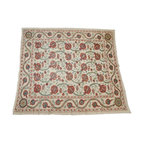 Vintage Suzani Coverlet with Embroidered Flowers - $2,000 Est. Retail - $1,295 o -