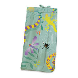 Room Magic - Room Magic Little Lizards Diaper Stacker - RM17-LL - Shop for Diaper Stackers from Hayneedle.com! Baby boys and girls will love the Room Magic Little Lizards Diaper Stacker. Made with a designer print this adorable diaper stacker pictures crawling lizards slithering snakes climbing frogs and spinning spiders for creative kids with adventurous minds. Completely made with cotton this quality stacker keeps diapers right next to where you need them most in the nursery without taking up extra changing table space.About Room MagicRoom Magic doesn't just make children's furniture; they design furniture specifically for children using the magic of childhood imagination and creativity as a guiding principle. Beginning in 1999 with graphic designer Karen Andrea's attempt to create a truly lively and unique room for her five-year-old daughter Sarah the company has maintained a focus on using bright colors and unique themes that steer clear of cliched motifs. Bright and bold playful cut outs decorate the quality hardwood pieces finished with beautiful stains. With collections that are geared both to boys and to girls Room Magic provides the furniture accessories and bedding you need to bring the magical fun of childhood to your kids' rooms.