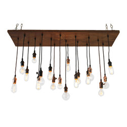 UrbanChandy - Replacement Bulb Package for Urban Chandy Medium, Eclectic Barnwood, & Barn Tin - This listing is for 18 bulbs ONLY, chandelier not included.