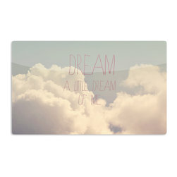 """Kess InHouse - Rachel Burbee """"Dream of Me"""" Tan White Aluminum Magnet - Decorate your fridge, locker or cubicle at work with small aesthetic pops of color. Made of a durable aluminum, these premium magnets are hand pressed and measure 3"""" x 2"""". Great for holding up to do lists, photos or coupons, these small pieces of art can make your fridge your own personal gallery."""