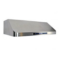 """Cavaliere Euro AP238-PS15-36 36"""" Under-Cabinet Range Hood w/ Remote Control - This stainless steel  wall mount range hood is available in 36"""" at RangeHoodsInc.com with prices starting at $659.00. Shipping is always Free. You can save an additional 10% by using the code RHIHZ10  at checkout!"""