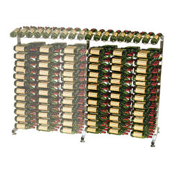 VintageView - VintageView 117 Bottle Half Island Extension Metal Wine Rack - Add to your 117 bottle VintageView Half island display rack and fill an entire wall with your favorite wines. Includes one upright, cross rails, presentation rack and three WS43 racks. (RequiresIDR4H Half island display rack)