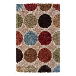 Surya - Surya Concepts Shag Rug X-6735-6171TPC - A modern translation of a classic style, the shag designs of the Concepts Collection are a playful yet elegant addition to any space. Machine made of 100% polypropylene in a color palette of pale blue, rust, deep brown, and ivory, the densely twisted pile is an exciting combination of movement and texture. With the ability to resist the wear and tear of daily life, these ingenious creations will be the centerpiece of your room for years to come.