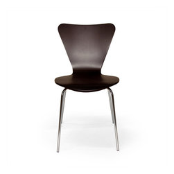 """Inmod - Trendy II Bentwood Stacking Chair (Set of 4), Wenge - If any single furniture piece deserves the description """"modern classic"""", it's this style of modern dining chair, the Trendy II Bentwood Stacking Chair which is a respectful homage to the Series 7 Chair of the great Danish designer/architect Arne Jacobsen."""