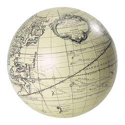 Authentic Models - Authentic Models GL123 Vaugondy Sphere Collection, Ivory/Black, Set of 6 - Cartography as home decor. .Even history and science can be playful. A ��_must��_ classic in stark graphic line-art and executed in various sizes. Spheres are after all home decor pur-sang, and what better sphere than the antique world. Easy to keep on eye level and to follow Magellan and other early heroes of exploration. Sail Sunda Strait, fill the hold at the Spice Islands, evade the pirates from Madagascar and round the Cape, then sail up to Brazil and cross the Atlantic for a safe landing in 18th C. Amsterdam.