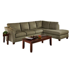 Chelsea Home Furniture - Chelsea Home Broome 2-Piece Sectional in Glacier Olive - Broome 2-Piece Sectional in Glacier Olive belongs to the Chelsea Home Furniture collection