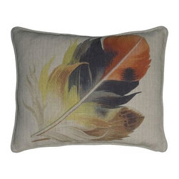 """EuroLux Home - New 16""""x20"""" Throw Pillow Feathers Yellow - Product Details"""