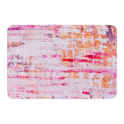 "KESS InHouse - Iris Lehnhardt ""Bittersweet"" Pink Orange Memory Foam Bath Mat (17"" x 24"") - These super absorbent bath mats will add comfort and style to your bathroom. These memory foam mats will feel like you are in a spa every time you step out of the shower. Available in two sizes, 17"" x 24"" and 24"" x 36"", with a .5"" thickness and non skid backing, these will fit every style of bathroom. Add comfort like never before in front of your vanity, sink, bathtub, shower or even laundry room. Machine wash cold, gentle cycle, tumble dry low or lay flat to dry. Printed on single side."