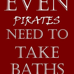 Oh How Cute Kids by Serena Bowman - Pirates Take Baths, Ready To Hang Canvas Kid's Wall Decor, 24 X 30 - Each kid is unique in his/her own way, so why shouldn't their wall decor be as well! With our extensive selection of canvas wall art for kids, from princesses to spaceships, from cowboys to traveling girls, we'll help you find that perfect piece for your special one.  Or you can fill the entire room with our imaginative art; every canvas is part of a coordinated series, an easy way to provide a complete and unified look for any room.