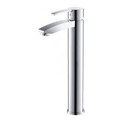 Fresca - Fresca FFT3112CH Livenza Single Hole Vessel Mount Bathroom Vanity Faucet - CH - Fresca FFT3112CH Livenza Single Hole Vessel Mount Bathroom Vanity Faucet - Chrome