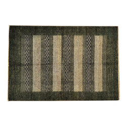 4' X 6' Modern Gabbeh Rug, High And Low Pile Hand Knotted 100% Wool Rug SH13549 - Our Modern & Contemporary Rug Collections are directly imported out of India & China.  The designs range from, solid, striped, geometric, modern, and abstract.  The color schemes range from very soft to very vibrant.