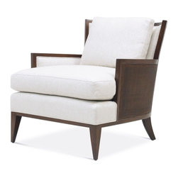 California Cane Lounge Chair - Baker Furniture - Casual elegance at its best. This comfortable lounge chair is wrapped on the outside with the option of caning or upholstery (6713C). Create just the right mood and relaxed look.