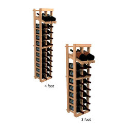 "Wine Cellar Innovations - Two Column Display; WineMaker: Premium Redwood Unstained - 3 Ft - Each wine bottle stored on this two column individual bottle wine rack is individually cradled with a built in display row to show off your wine labels. These wine racks must be mounted 1 1/2"" off the wall to ensure proper wine bottle stability. Assembly Required."