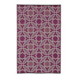 Fab Habitat - Fab Habitat - Indoor/Outdoor Rug - Seville - Multicolor - Purple, 5' X 8' - These beautifully crafted rugs are made following the fair trade principles. Fab Rugs add a touch of elegance to your home décor. They are made using premium quality recycled plastic straws which are tightly woven together to offer strength, softness and beauty. Being plastic, moisture will have no effect on the mat and it will not attract mildew.