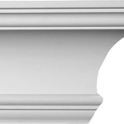 uDecor - CM-1053 Crown Molding - crown molding is manufactured with a dense architectural polyurethane compound (not Styrofoam) that allows it to be semi-flexible and 100% waterproof. This molding is delivered pre-primed for paint. It is installed with architectural adhesive and/or finish nails. It can also be finished with caulk, spackle and your choice of paint, just like wood or MDF. A major advantage of polyurethane is that it will not expand, constrict or warp over time with changes in temperature or humidity. It's safe to install in rooms with the presence of moisture like bathrooms and kitchens. This product will not encourage the growth of mold or mildew, and it will never rot.