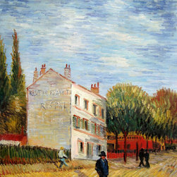 "overstockArt.com - Van Gogh - The Rispal Restaurant at Asnieres, Summer - 20"" X 24"" Oil Painting On Canvas Hand painted oil reproduction of a famous Van Gogh painting, The Rispal Restaurant at Asnieres, Summer . The original masterpiece was created in 1887. Today it has been carefully recreated detail-by-detail, color-by-color to near perfection. Vincent Van Gogh's restless spirit and depressive mental state fired his artistic work with great joy and, sadly, equally great despair. Known as a prolific Post-Impressionist, he produced many paintings that were heavily biographical. This work of art has the same emotions and beauty as the original. Why not grace your home with this reproduced masterpiece? It is sure to bring many admirers!"