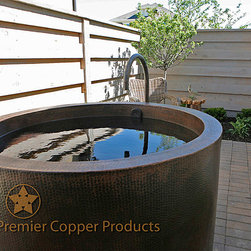 Premier Copper Hand Hammered Custom Made Tub - Premier Copper Products