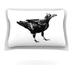 "Kess InHouse - Sophy Tuttle ""Raven"" Pillow Sham (Cotton, 30"" x 20"") - Pairing your already chic duvet cover with playful pillow shams is the perfect way to tie your bedroom together. There are endless possibilities to feed your artistic palette with these imaginative pillow shams. It will looks so elegant you won't want ruin the masterpiece you have created when you go to bed. Not only are these pillow shams nice to look at they are also made from a high quality cotton blend. They are so soft that they will elevate your sleep up to level that is beyond Cloud 9. We always print our goods with the highest quality printing process in order to maintain the integrity of the art that you are adeptly displaying. This means that you won't have to worry about your art fading or your sham loosing it's freshness."