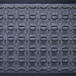 """A1 Home Collections - Molded Polypropylene Mat, Weather Beater, 18""""X 30"""", Dark Grey - This doormat is rubber backed mat with polypropylene surface that is ideal for keeping moisture and dirt away from indoor floors. The polypropyle rug surface of this mat adds a non-slip grip for safety"""