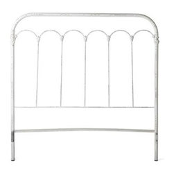 Bethany Iron Headboard - This lovely cast iron headboard from Sundance would be such a treasure for a little girl's room.