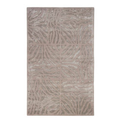 Candice Olson - Candice Olson Modern Classics Animal Hand Tufted Wool Rug X-85-4391NAC - Mention the two words Divine and Design to anyone and the name Candice Olson immediately comes to mind. her impeccable talent for design and her overwhelming charisma have made her a household name. Hand-tufted in India of 100% New Zealand wool, the pattern is graphic and flowing in an array of Taupe and Mushroom