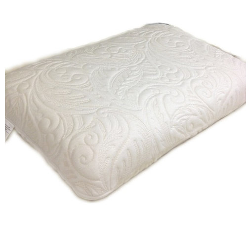 Bed Linens - Memory Foam Pillow - Best remedy for restless nights. You can count on comfort with this memory foam pillow. In off white. Memory foam naturally contours to the shape of your head and neck, offering therapeutic support and personalized comfort. Higher crown accommodates side sleepers to ensure a sound night's sleep. Removable Jacquard cover feels wonderfully soft against your skin.
