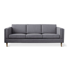 Gus - Adelaide Sofa - The Adelaide Sofa is a classic club sofa frame that harkens back to Mid-century archetypes.