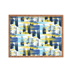 DENY Designs - Zoe Wodarz Indigo Ikat Rectangular Tray - With DENY's multifunctional rectangular tray collection, you can use it for decoration in just about any room of the house or go the traditional route to serve cocktails. Either way, you��_ll be the ever so stylish hostess with the mostess!