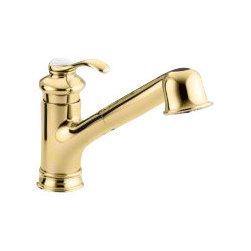 KOHLER - KOHLER K-12177-PB Fairfax Single-Control Pull-Out Kitchen Sink Faucet - KOHLER K-12177-PB Fairfax Single-Control Pull-Out Kitchen Sink Faucet in Polished Brass
