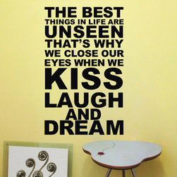 Home Wall Decal The Best Things In Life Are Unseen - Home Wall Decal The Best Things In Life Are Unseen