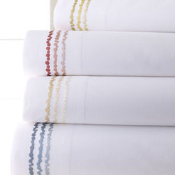SFERRA - SFERRA Queen Sheet Set - Select color when ordering. Machine wash. Made of Egyptian cotton percale. Imported.