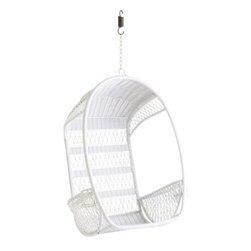 Swingasan, White - This is ideal for a patio, but how fun would it be for an indoor reading nook?