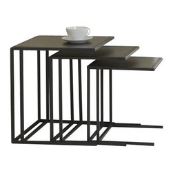 Jesper Office Furniture - Parsons Edition Nesting Tables in Espresso - Features: