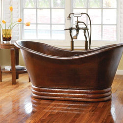 "Native Trails - 72"" Aurora Antique Copper Bathtub by Native Trails - Forget the cares of the world with a luxuriously restful soak in Aurora, and let its old world elegance become the striking focal point of your bathroom. Aurora, copper artisan crafted soaker tub from Native Trails, is designed for sumptuous comfort and visual delight. Offered in 60 or 72"" length, Aurora is available in Antique and hand-dipped Brushed Nickel finishes."