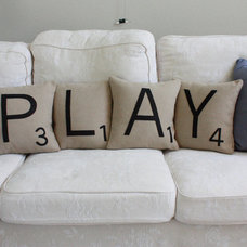 Transitional Decorative Pillows by Etsy
