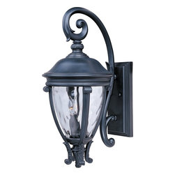 Maxim Lighting - Maxim Lighting Camden VX -Outdoor Wall Sconce X-KBGW52414 - This Maxim Lighting outdoor wall sconce features elegant old world European inspired style that will compliment a variety of outdoor spaces. From the Camden VX Collection, it features a clean Black finish that is the perfect contrasting hue against the clear water glass shade.