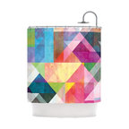 "Kess InHouse - Mareike Boehmer ""Color Blocking"" Rainbow Abstract Shower Curtain - Finally waterproof artwork for the bathroom, otherwise known as our limited edition Kess InHouse shower curtain. This shower curtain is so artistic and inventive, you'd better get used to dropping the soap. We're so lucky to have so many wonderful artists that you'll probably want to order more than one and switch them every season. You're sure to impress your guests with your bathroom gallery in addition to your loveable shower singing."