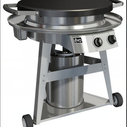 Outdoor Living - Manually-Controlled Gas-Fired Flattop Grill For Residential Outdoor Cooking