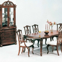 Yuan Tai Furniture - Charity 6 Piece Dining Room Set - 8388T-6SET - Set includes Dining Table, 4 Side Chairs and Hutch/Buffet